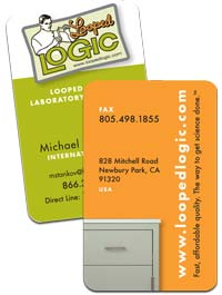 Looped LOGIC business cards